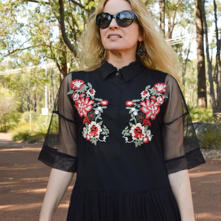 Zara-collection-embroidered-tulle dress
